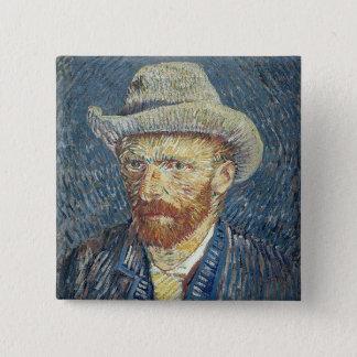 Selbstporträt Vincent van Goghs | mit geglaubtem Quadratischer Button 5,1 Cm