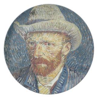 Selbstporträt Vincent van Goghs   mit geglaubtem Teller