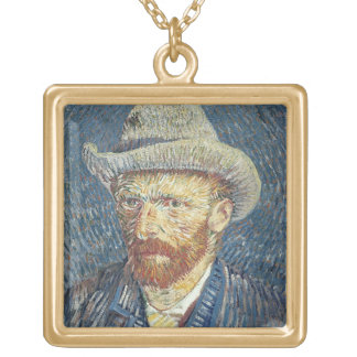 Selbstporträt Vincent van Goghs | mit geglaubtem Vergoldete Kette