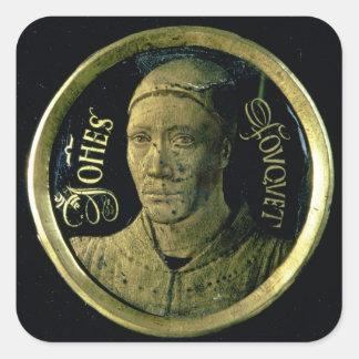 Selbstporträtmedaillon, c.1450 (Email auf Kupfer) Stickers