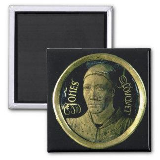 Selbstporträtmedaillon, c.1450 (Email auf Kupfer) Magnets