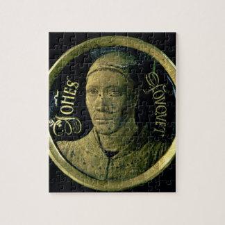 Selbstporträtmedaillon, c.1450 (Email auf Kupfer) Puzzle