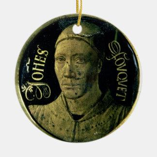 Selbstporträtmedaillon, c.1450 (Email auf Kupfer) Rundes Keramik Ornament