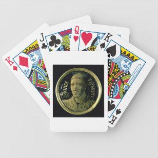 Selbstporträtmedaillon, c.1450 (Email auf Kupfer) Spielkarten