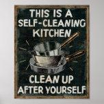 Selbstreinigungs-Küche Plakat