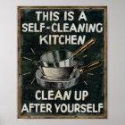 Selbstreinigungs-Küche Poster