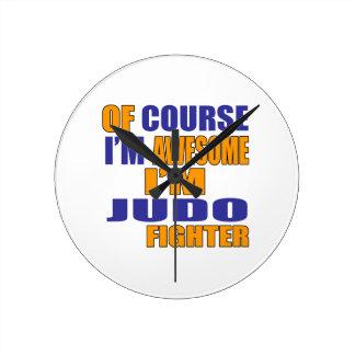 Selbstverständlich bin ich Judo-Kämpfer Runde Wanduhr