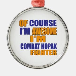 Selbstverständlich bin ich Kampf Hopak Kämpfer Silbernes Ornament