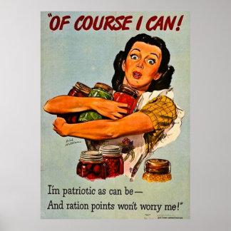 Selbstverständlich kann ich! Vintage WWII Poster
