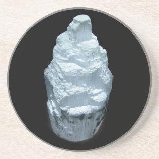 Selenit-Kristall Getränkeuntersetzer