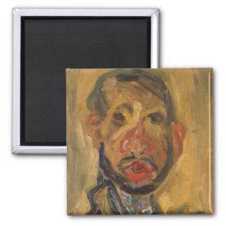 Self-Portrait, 1916 Quadratischer Magnet
