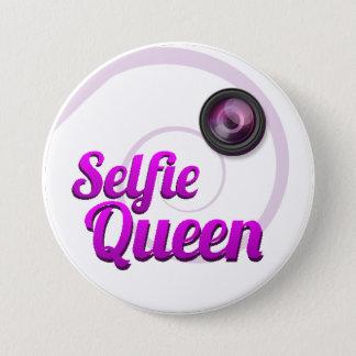 Selfie Königin-Abzeichen Runder Button 7,6 Cm