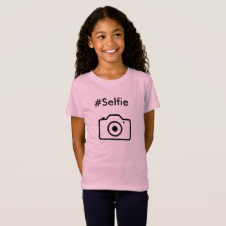 #selfie T-Shirt für Kindmädchen