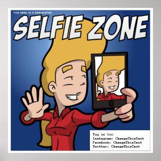 Selfie Zonen-Plakat (kundengerecht) Poster