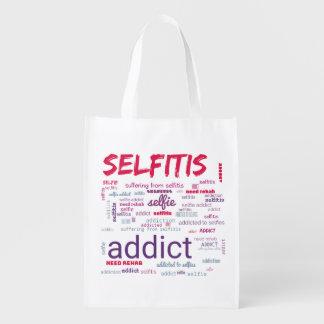 Selfitis, Selfie Süchtiger Wiederverwendbare Einkaufstasche