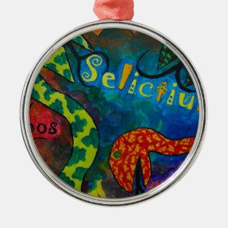 Selictium ipos quexius rundes silberfarbenes ornament