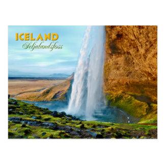 Seljalandsfoss Wasserfall in Island Postkarte