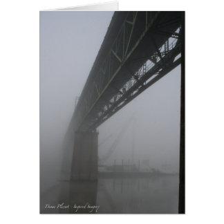 Sellwood Brücke im Nebel (1) Karte