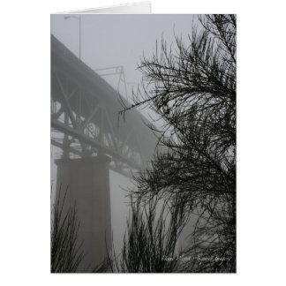 Sellwood Brücke im Nebel (2) Karte