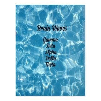 "Seltene blaue gewellte ""Gehirn-Wellen "" Postkarte"