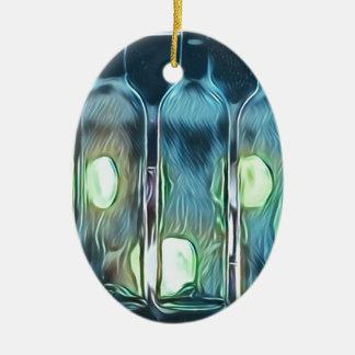 Seltene blaue noble schicke künstlerische keramik ornament