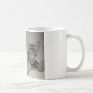Seltene Paar-weißer Tiger CUB Kaffeetasse