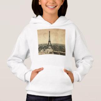 Seltene Vintage Postkarte mit Eiffel-Turm in Paris Hoodie