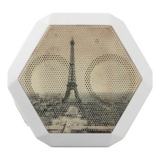 Seltene Vintage Postkarte mit Eiffel-Turm in Paris Weiße Bluetooth Lautsprecher
