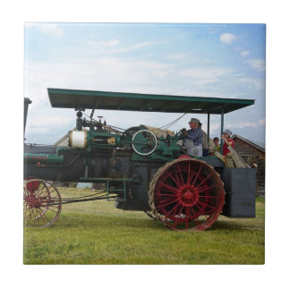 seltener Dampf-Traktor Fliese