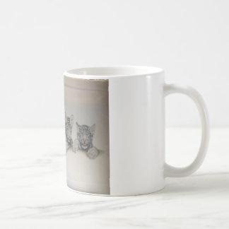 Seltener weißer Tiger CUB Kaffeetasse