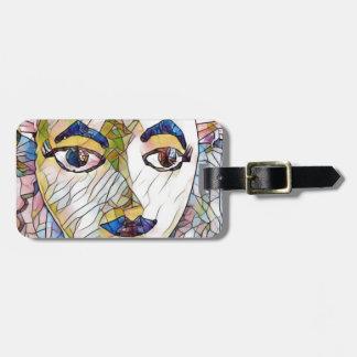 Seltenes künstlerisches Mannequin-Gesicht Gepäckanhänger