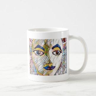 Seltenes künstlerisches Mannequin-Gesicht Kaffeetasse