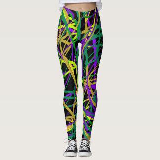 Seltsame Farben-Gamaschen Leggings