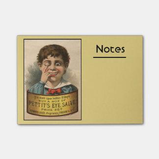 Seltsame und lustige Vintage Anzeige Post-it Haftnotiz
