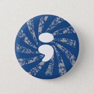 Semikolon auf Schmutzstrahlen Runder Button 5,1 Cm