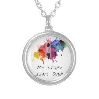 Semikolon meine Geschichte ist nicht vorbei Halskette Mit Rundem Anhänger