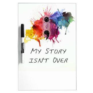 Semikolon meine Geschichte ist nicht vorbei Trockenlöschtafel