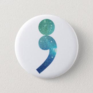 Semikolonknopf Runder Button 5,7 Cm
