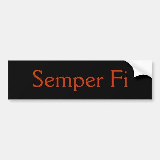 Semper FI Auto Sticker
