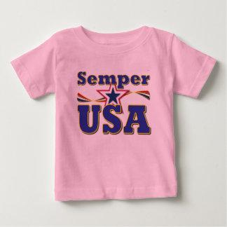 Semper USA einzigartiges T-Stück Amerika Stripes T Baby T-shirt