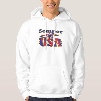 Semper USA T-Stück Amerika-US Flagge-T - Shirt