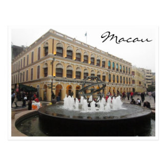 senado Brunnen Macao Postkarte