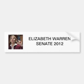 Senat 2012 Elizabeth Waren Autoaufkleber