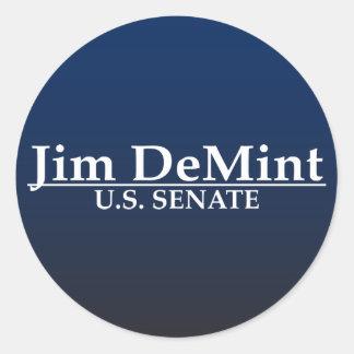 Senat Jims DeMint US Runde Sticker