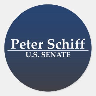 Senat Peter Schiff US Runde Sticker