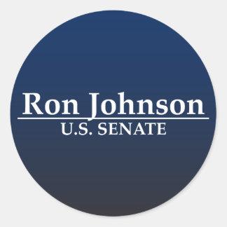 Senat Ron Johnson US Runder Sticker