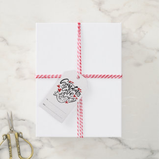 Senden der Liebe-Handbeschriftung mit Herzen Geschenkanhänger