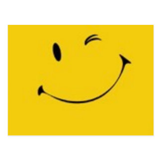 Senden Sie ein Lächeln - Smiley-Postkarte Postkarte