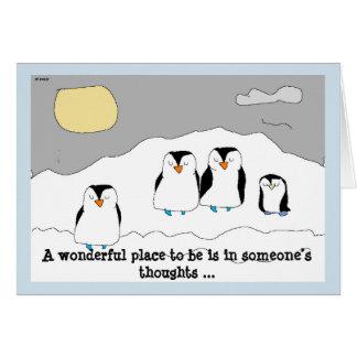 Senden Sie gedehnt sprechende Pinguine, um den Tag Karte