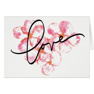 Send love with the Plumeria Blank Note Card